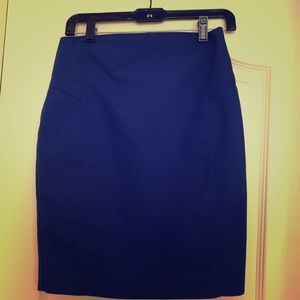 Express bright blue pencil skirt